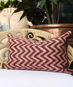 Zig zag Turkish Kilim Lumbar Pillow