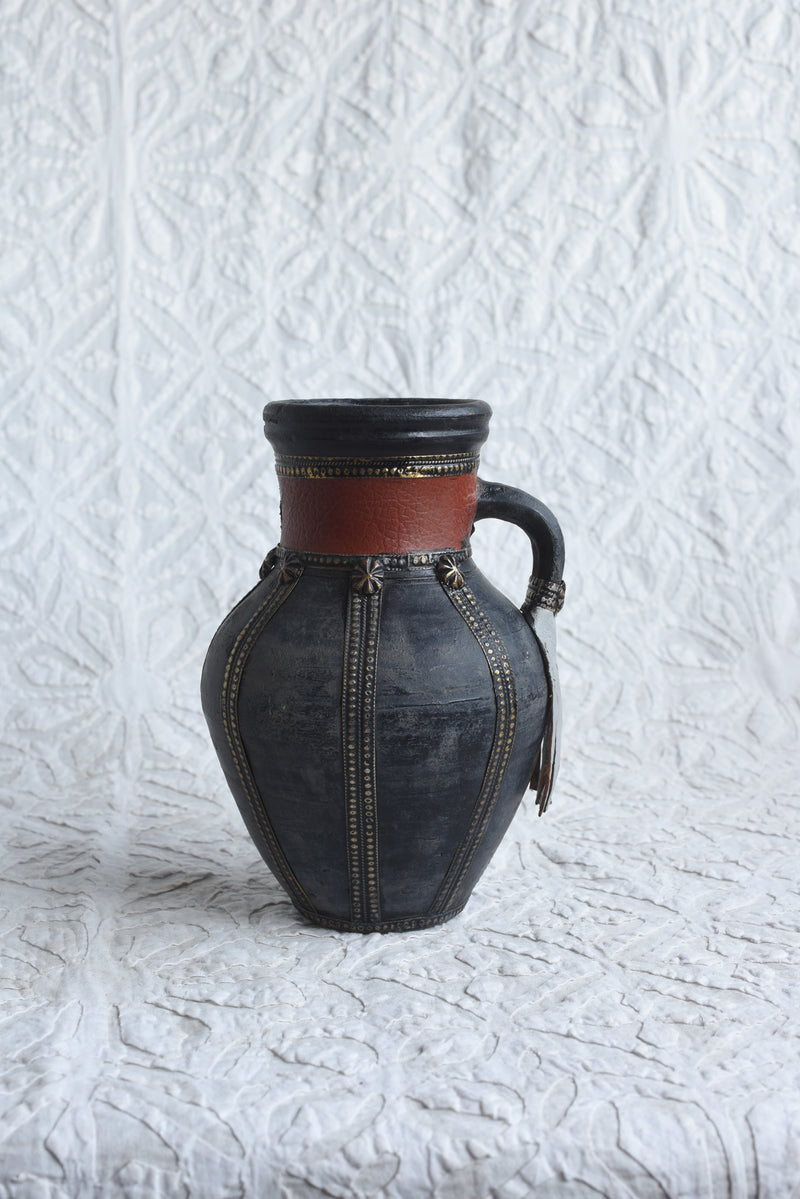 Berber Pot with Leather Tassel