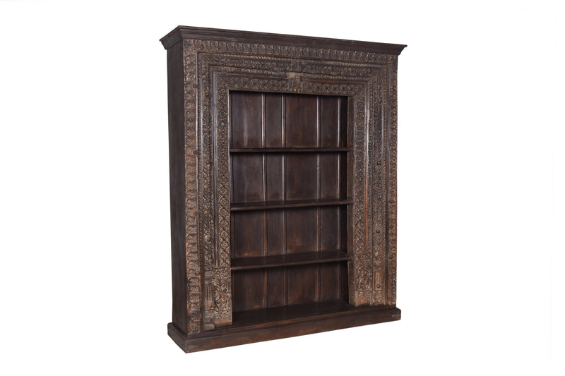 Indian Old Door Bookshelf