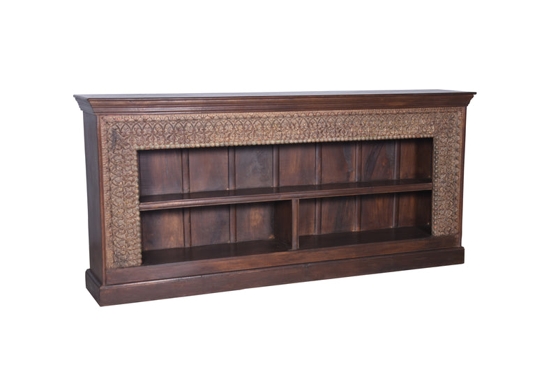 Sideboard Bookshelf Made with Old Carved Beam