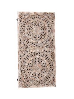 Cream-Wash Carved Panel