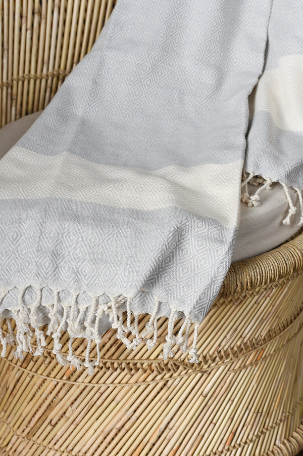 Turkish Towel - Light Grey
