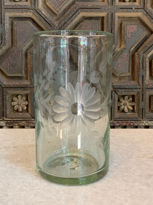 Hand Engraved Tall Cooler Glass
