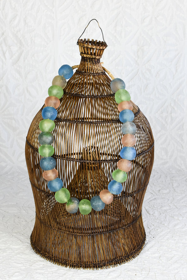 Large African Glass Beads - Pastels