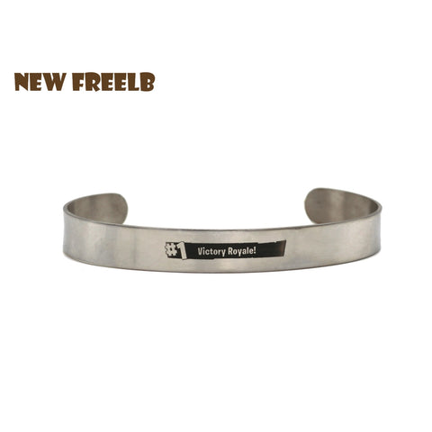 Hot FPS Game Fortnite Battle Royale #1 Victory Rayale Bracelets Stainless Steel Fashion Inspired Jewelry for fans Laser Printing