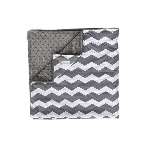 Grey Chevron Baby Security Blanket Super Soft Minky (double layered)