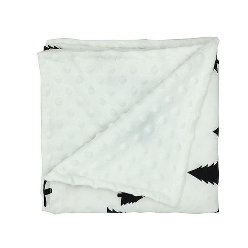 Black Trees Baby Security Blanket Super Soft Minky (double layered)