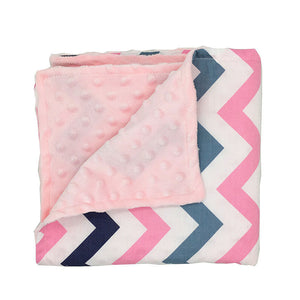 Pink Chevron Baby Security Blanket Super Soft Minky (double layered)