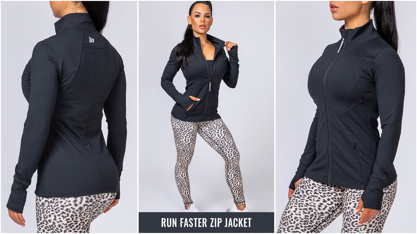 Muscle Nation Run Faster Zip Jacket