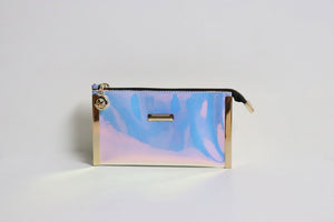 Women Wallet Purse - Shiny Blue Purple - Tshopi.com