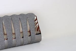 Classic Striped Clutch - Tshopi.com