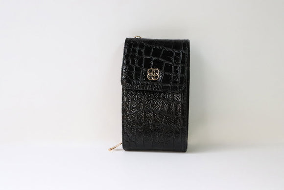 Medium Crocodile Textured Mobile Bag - Tshopi.com