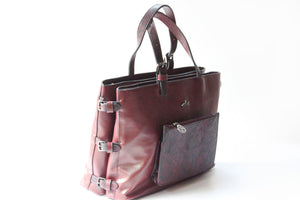 Burgundy Large Tote Bag - Tshopi.com