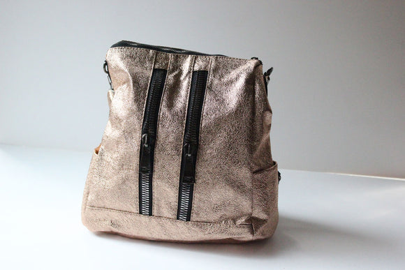 Modern 2 Zippers Backpack - Tshopi.com