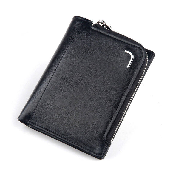 Men Wallet Card Holder Double Zipper - Tshopi.com