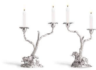 The classic Elephant Candelabra Pair is made and heralds the start of our long love affair with candelabra and designing spectacular pieces for the dining room.