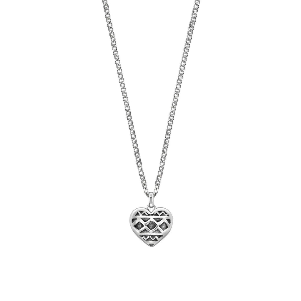 Heart of Africa Pendant & Chain in Sterling Silver - Large