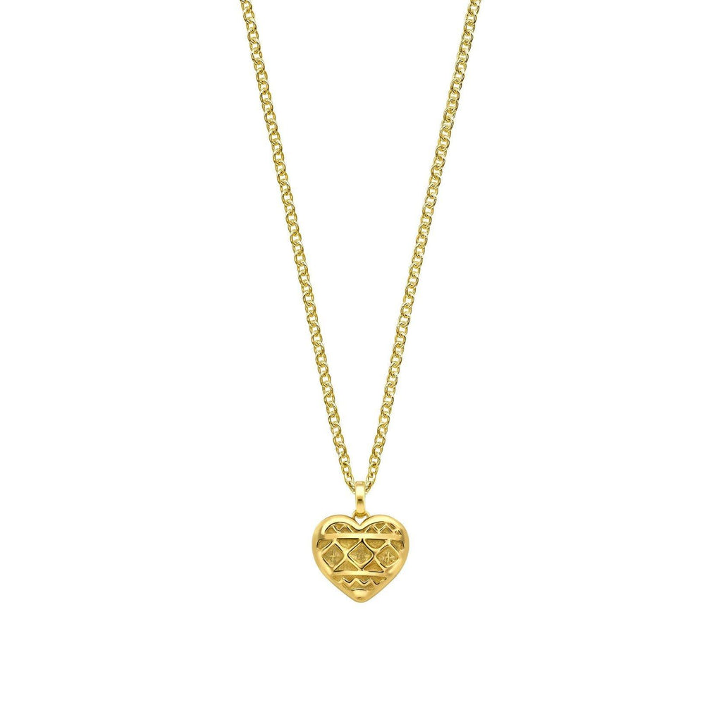 Heart of Africa Pendant & Chain in 18ct Gold - Large