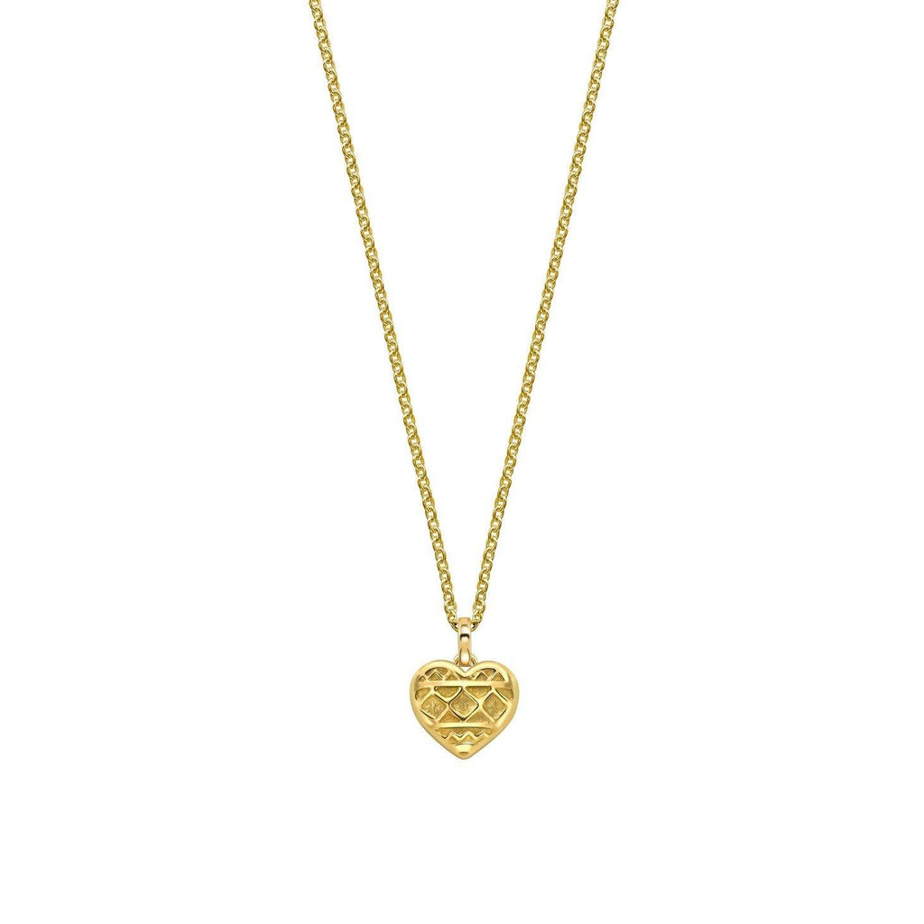 Small Heart of Africa Pendant in 18ct Gold