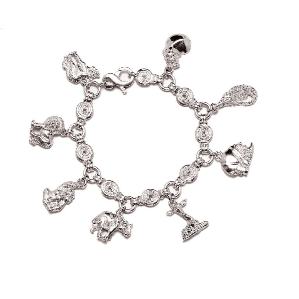 Animal Charm Bracelet in Sterling Silver