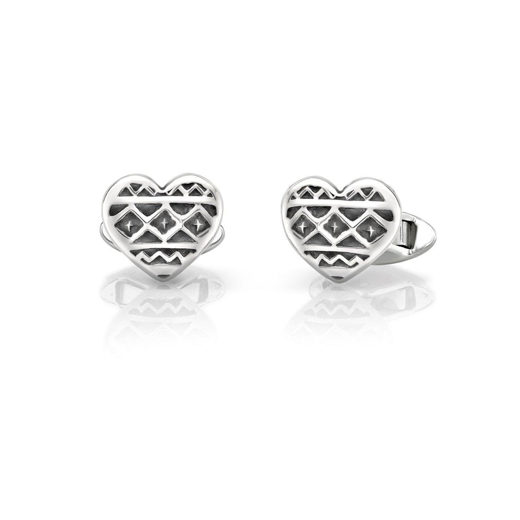Heart of Africa Cufflinks in Sterling Silver
