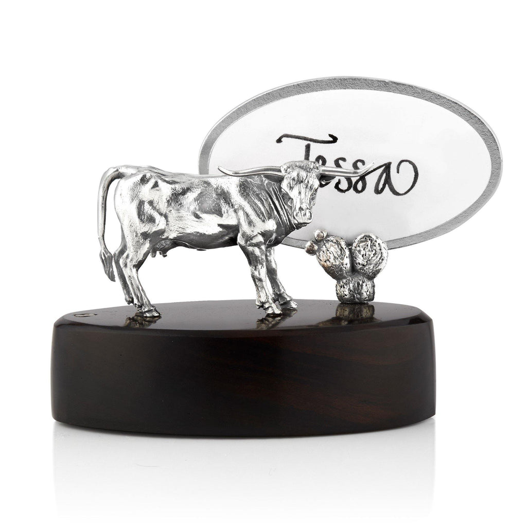Texas Longhorn Cow Place Card Holder
