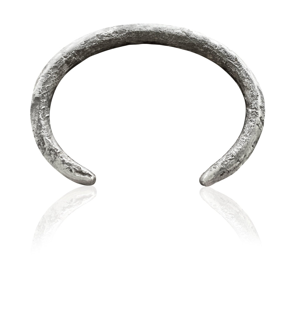 Mens Forged by the Ocean Bangle in Sterling Silver