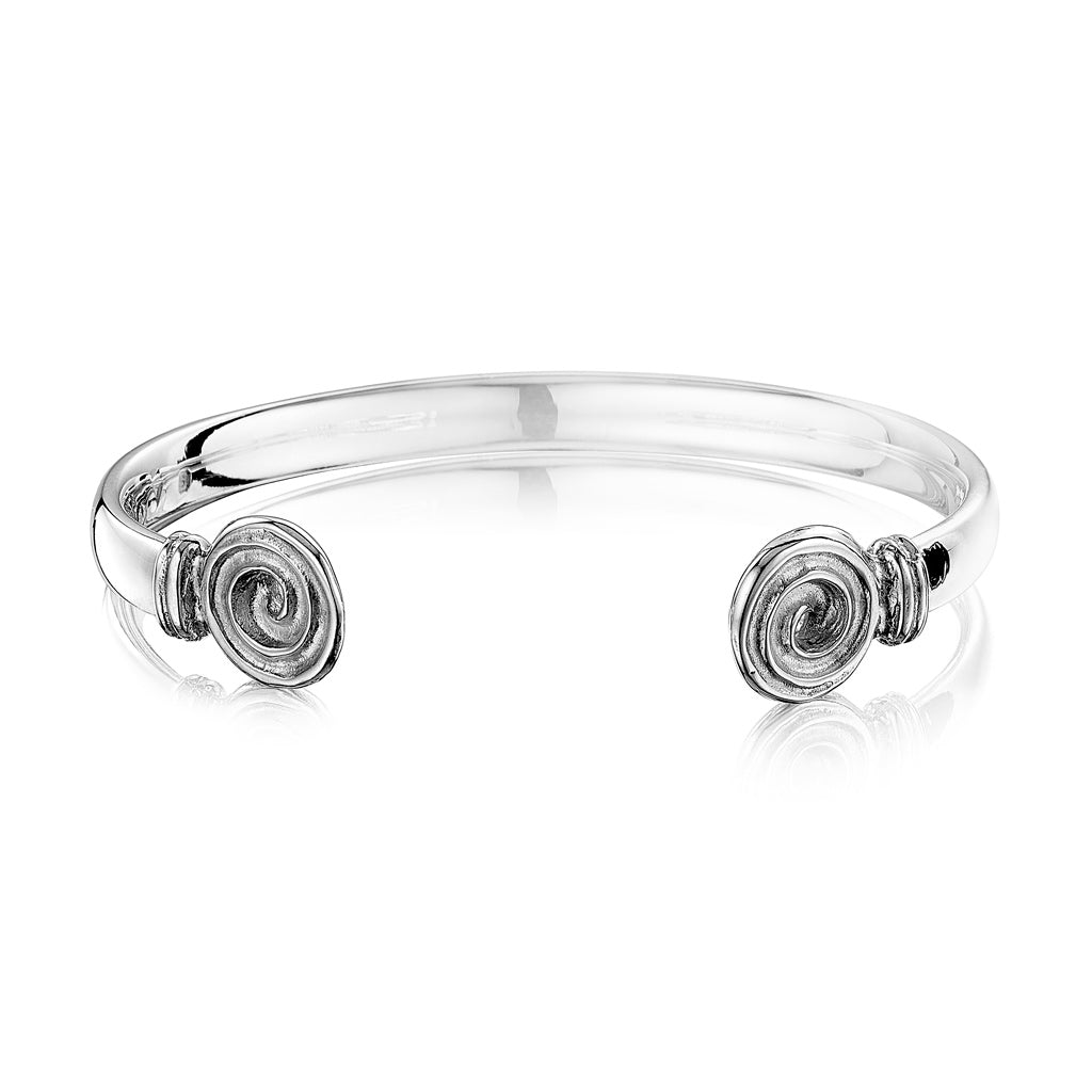Ndoro Wire Cuff Bangle in Sterling Silver
