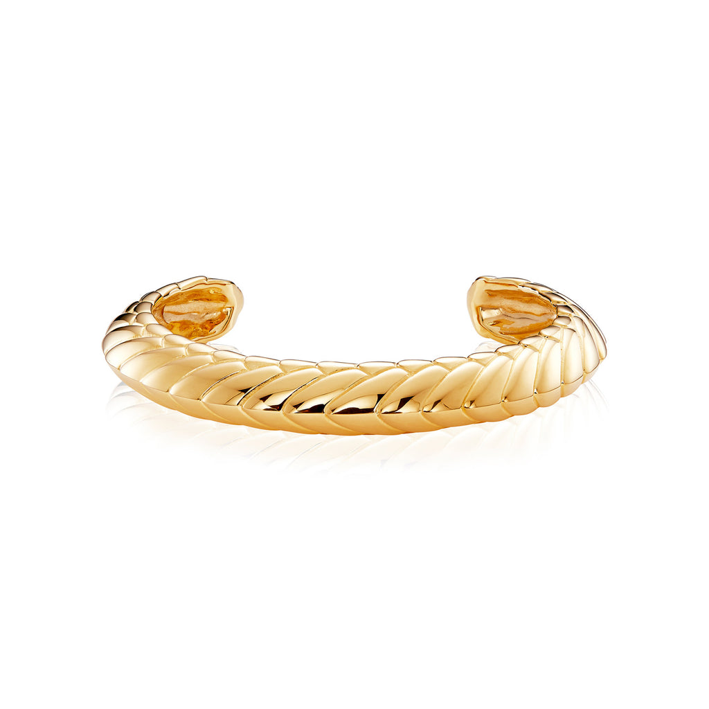 Pangolin Armour Bangle in 18ct Gold