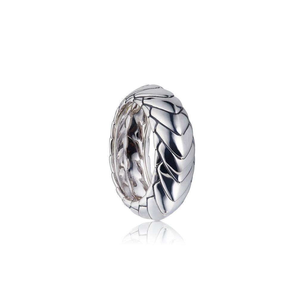 Pangolin Armour Ring in Sterling Silver