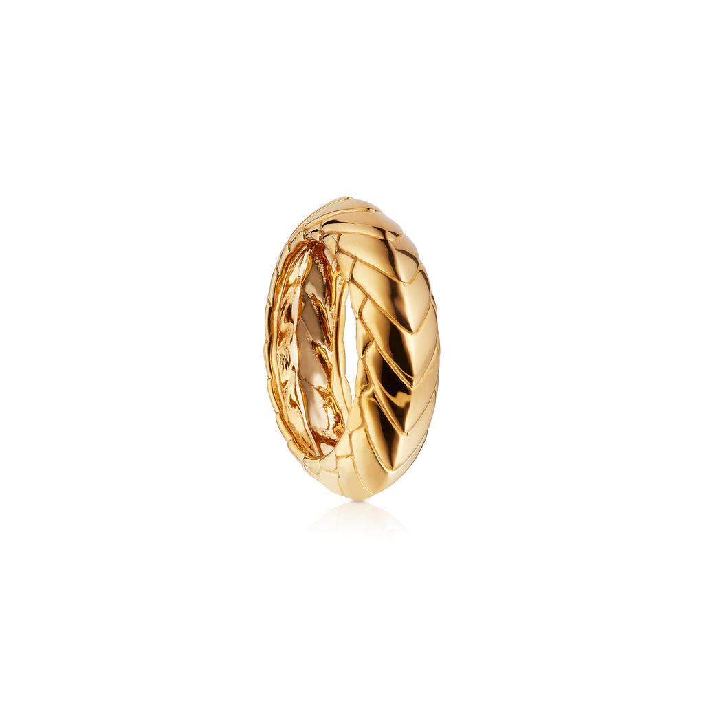 Pangolin Armour Ring in 18ct Gold