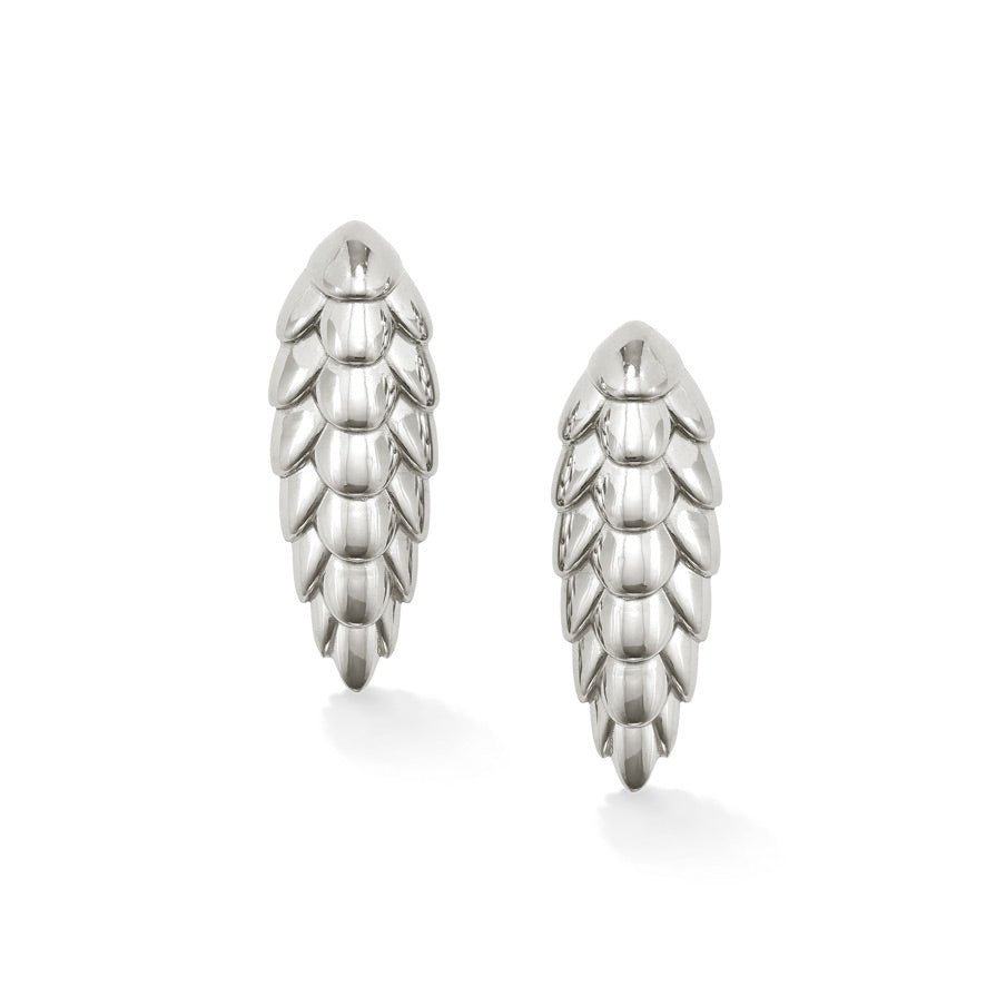 Pangolin Haka Earrings in Sterling Silver