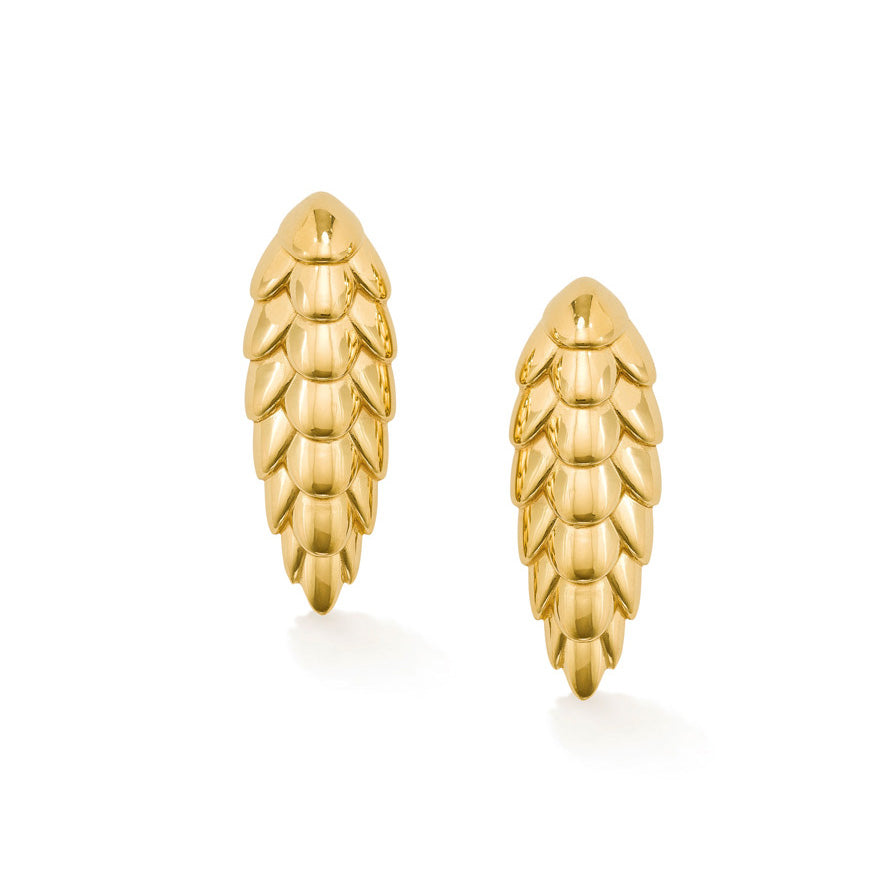 Pangolin Haka Earrings in 18ct Gold
