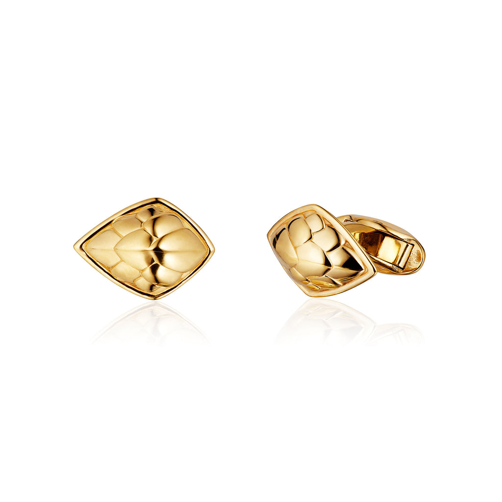 Pangolin Shield Cufflinks in 18ct Gold