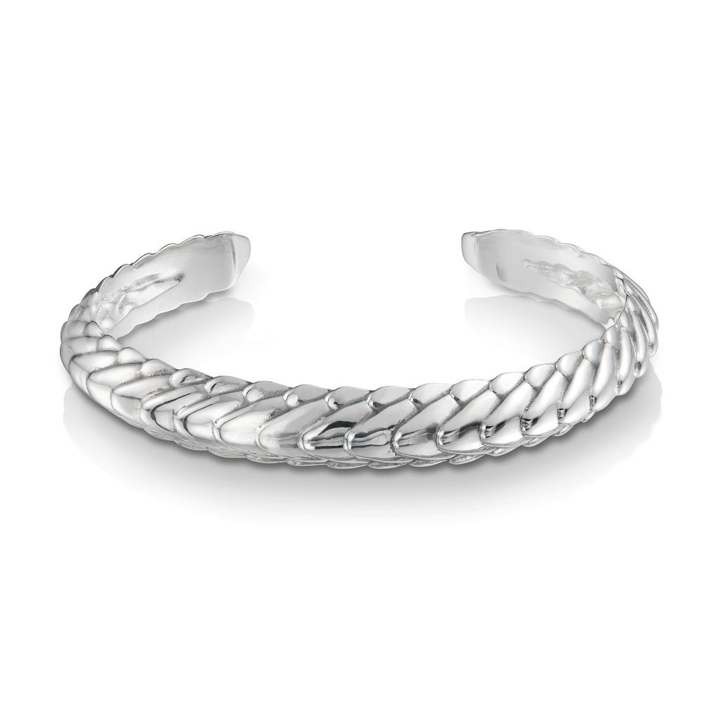 Pangolin Stacking Cuff in Sterling Silver