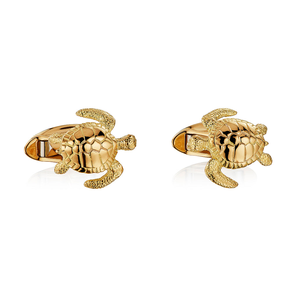 Turtle Cufflinks in 18ct Gold