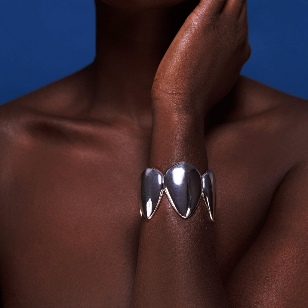 The Pangolin Queen Cuff in Silver