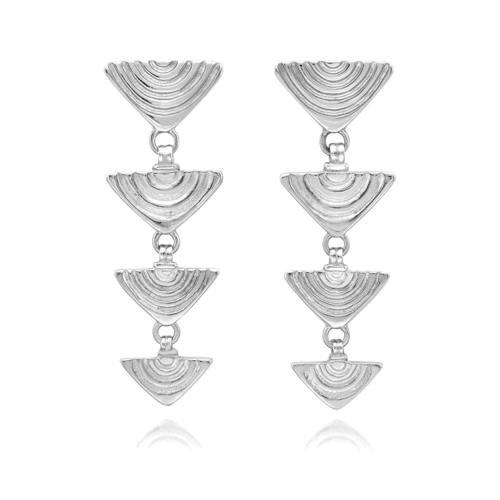 Vakadzi Graduated Earrings in Silver