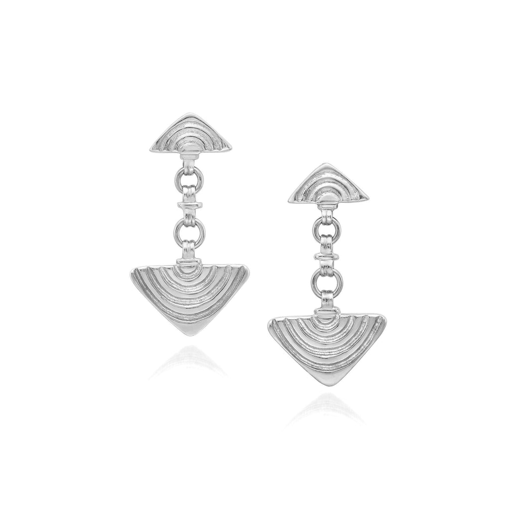 Vakadzi Link Earrings in Silver