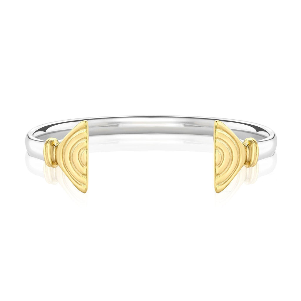 Vakadzi Wire Cuff in Silver with 18ct Gold