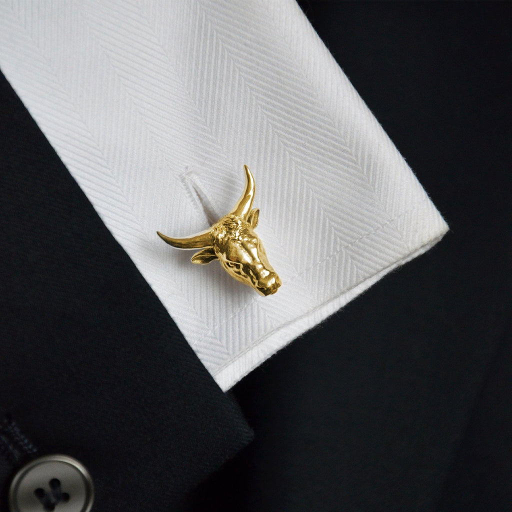 Ox Zodiac Cufflinks in 18ct Gold