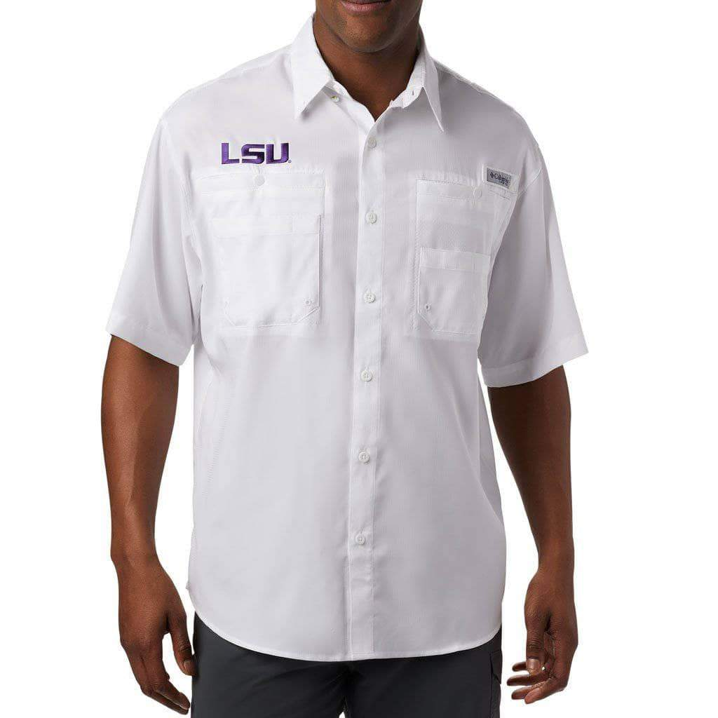 LSU Tigers Men's Columbia Tamiami Shirt