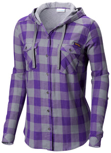 LSU Tigers Women's Columbia Shirt Plaid with Hood