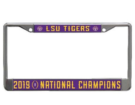 LSU 2019 National Championship License Plate Frame
