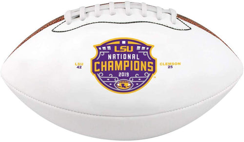 LSU 2019 National Champions Baden Sports Mini Autograph Football