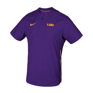 LSU Tigers Nike Pullover Lockdown Sideline Apparel