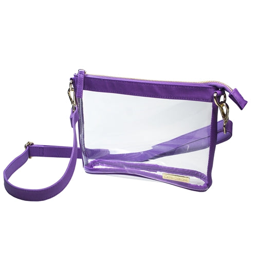 Women's LSU Small Clear Crossbody Gameday Bag