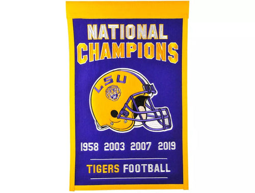 LSU Tigers National Championship Dynasty Flag