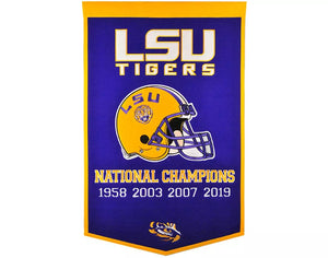LSU Tigers National Championship Dynasty Banner