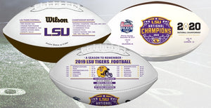 LSU 2019 National Champions Nikco Special Edition Football